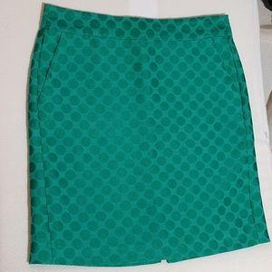 BR green patterned skirt